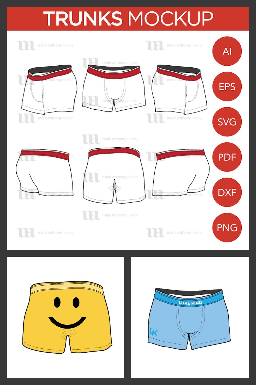Trunks  Mockup Template - MasterBundles - Pinterest Collage Image.