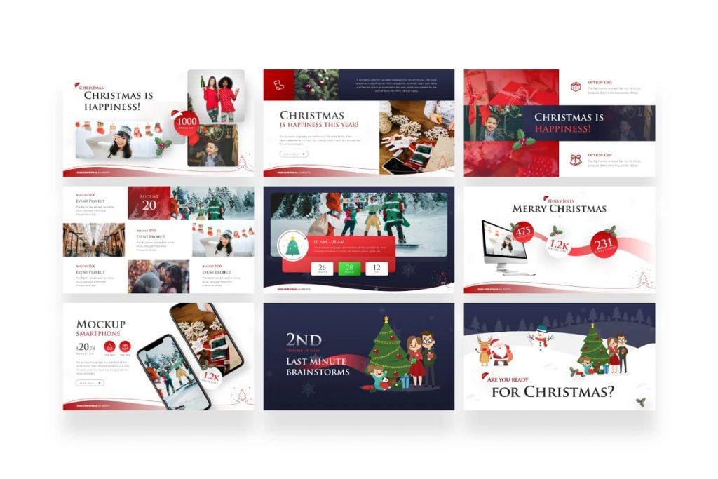 9 templates for your Christmas presentation.