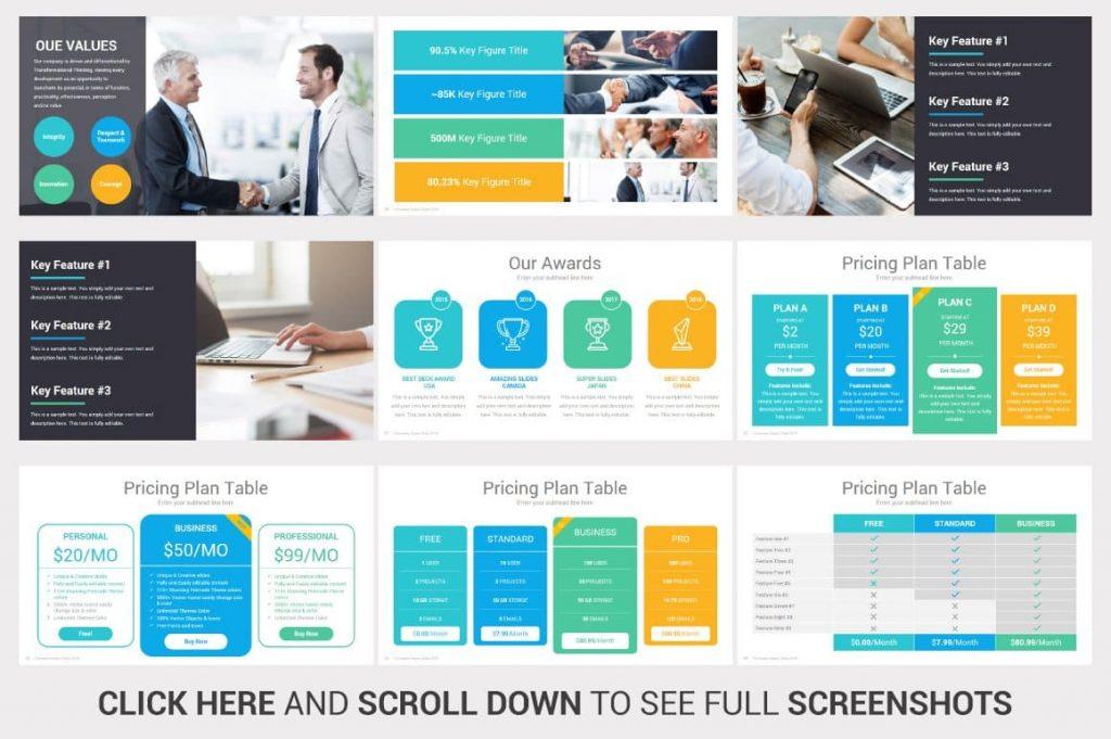 Pricing Plan Table Investors PowerPoint Slides Pitch Decks.
