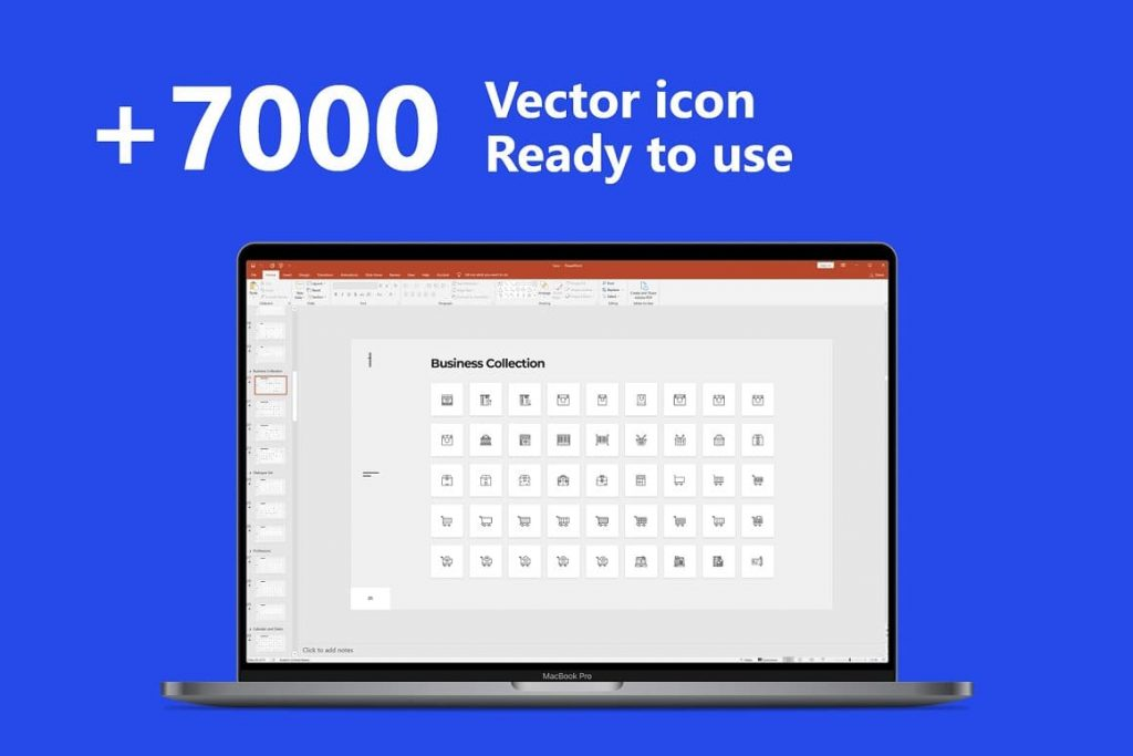 7000 vector icons ready to use Voodoo Presentation 4.0.