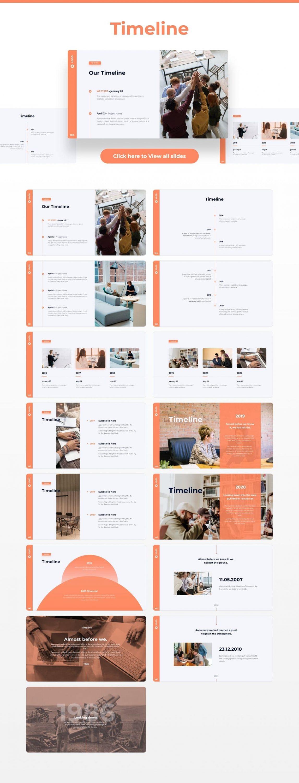 Timeline slides Light Theme Pitch Deck & Presentation V3.0.