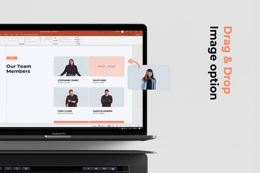 Drag and Drop Image Option Light Theme Pitch Deck & Presentation V3.0.