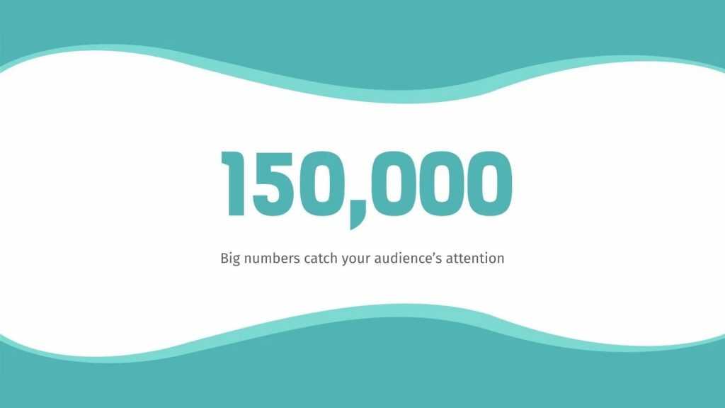 Slide in big numbers to grab the audience's attention.