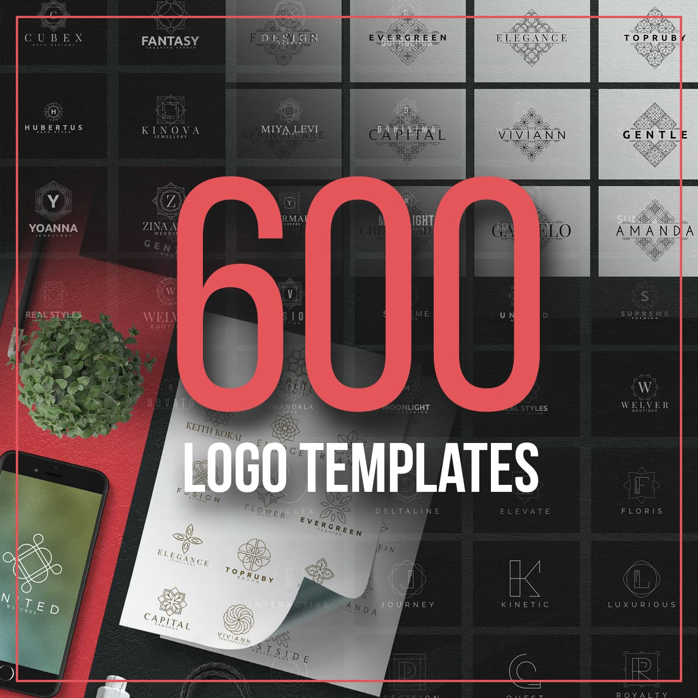 600 Logo Templates Mega Bundle Main Preview.
