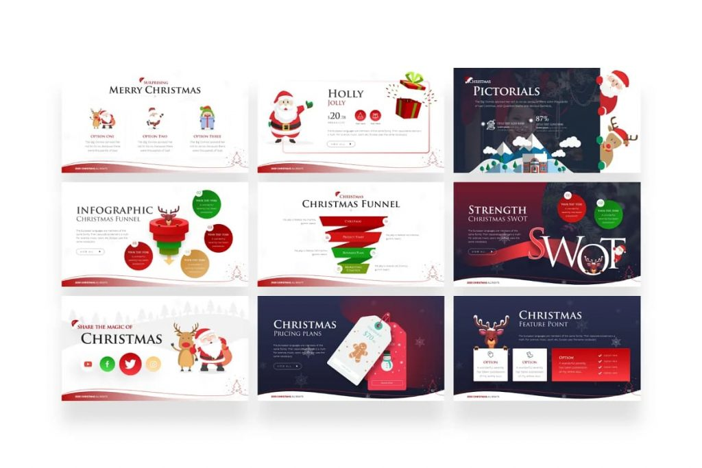 Presentation template for Christmas projects.