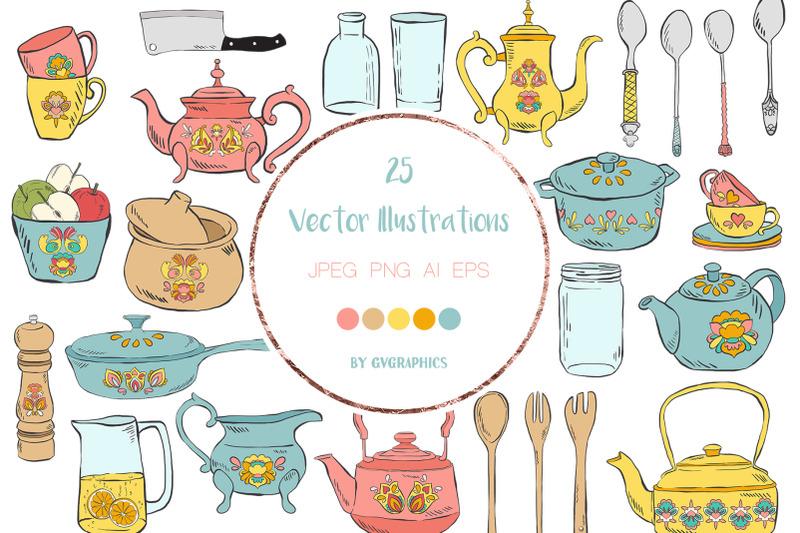 800 3763917 silujercn5z95bd5iatbalyyf7zmyfvcx85qpseb 25 hand drawn kitchen utensils vector illustrations