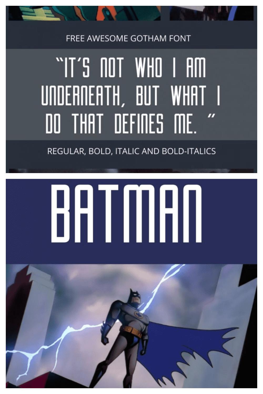 Free Awesome Gotham Font - MasterBundles - Pinterest Collage Image.