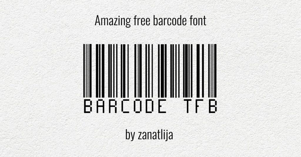 Facebook image by MasterBundles Amazing free barcode font.