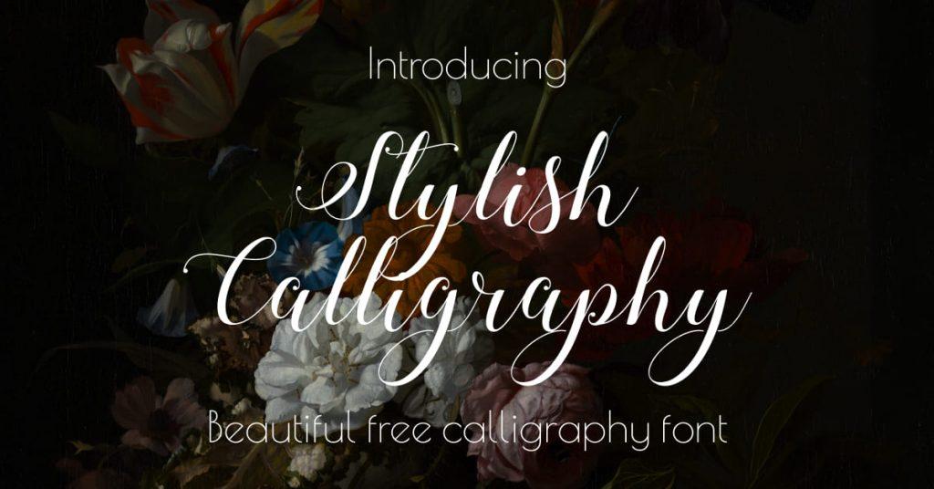 Beautiful free calligraphy font Facebook image by MasterBundles.
