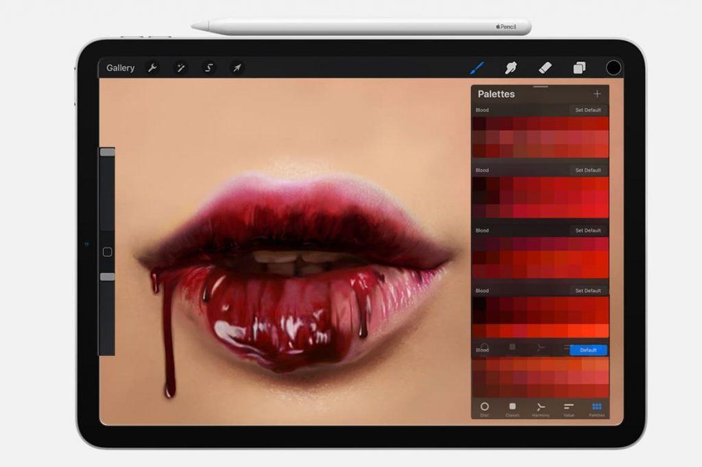 Effect Blood Digital Painting Assets - Portrait.