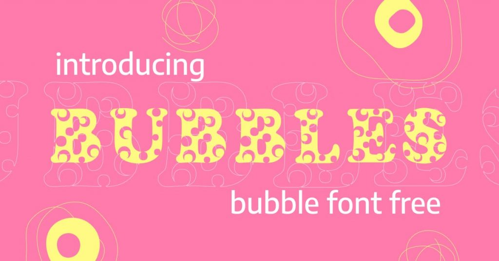 Facebook image Bubbles bubble font free by MasterBundles.