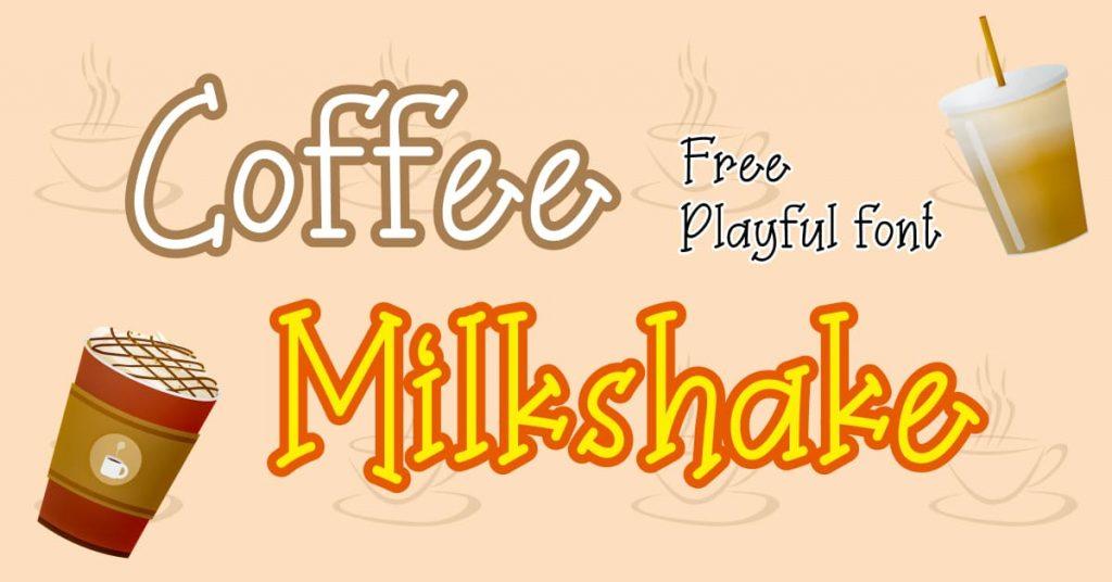 Coffee Milkshake font free image for Facebook by MasterBundles.