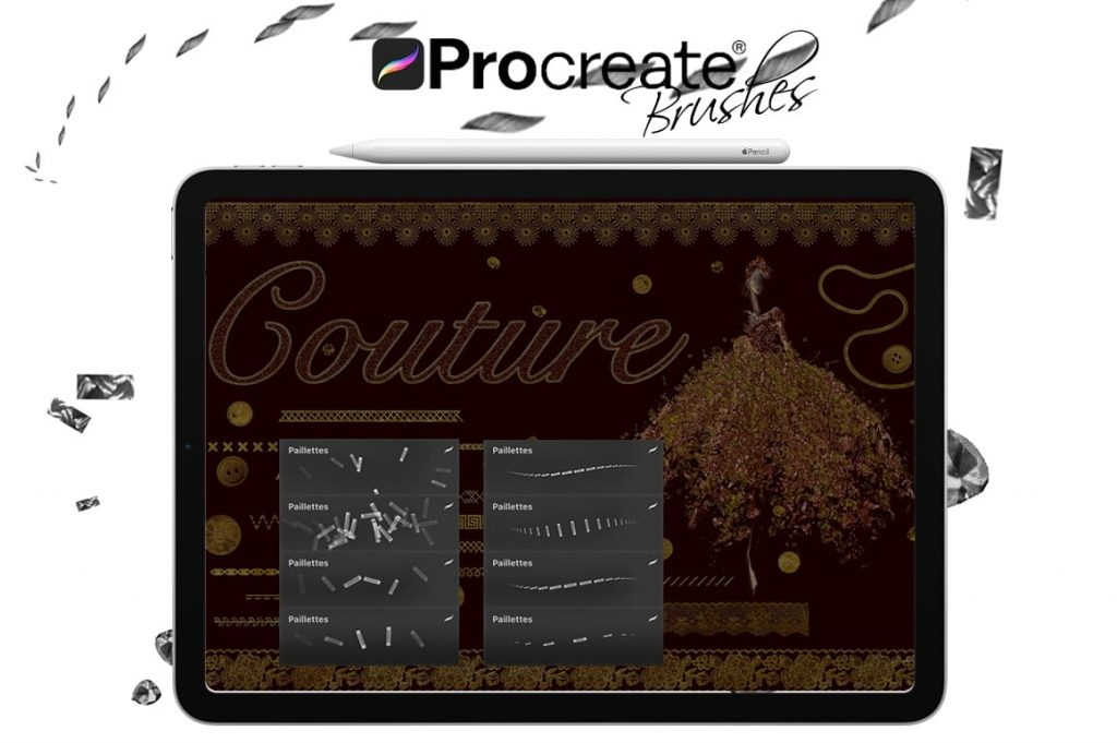 Couture brushes for creativity. Digital Painting Assets - Portrait.