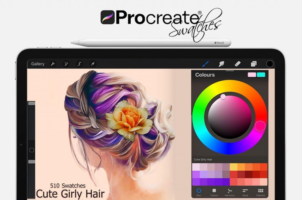 Cute Hair Digital Painting Assets - Portrait.