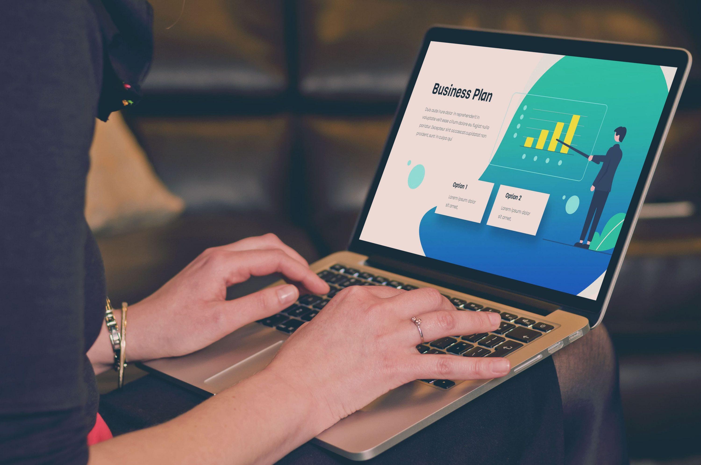 Blue Presentation: Powerpoint, Keynote, Google Slides by MasterBundles notebook.