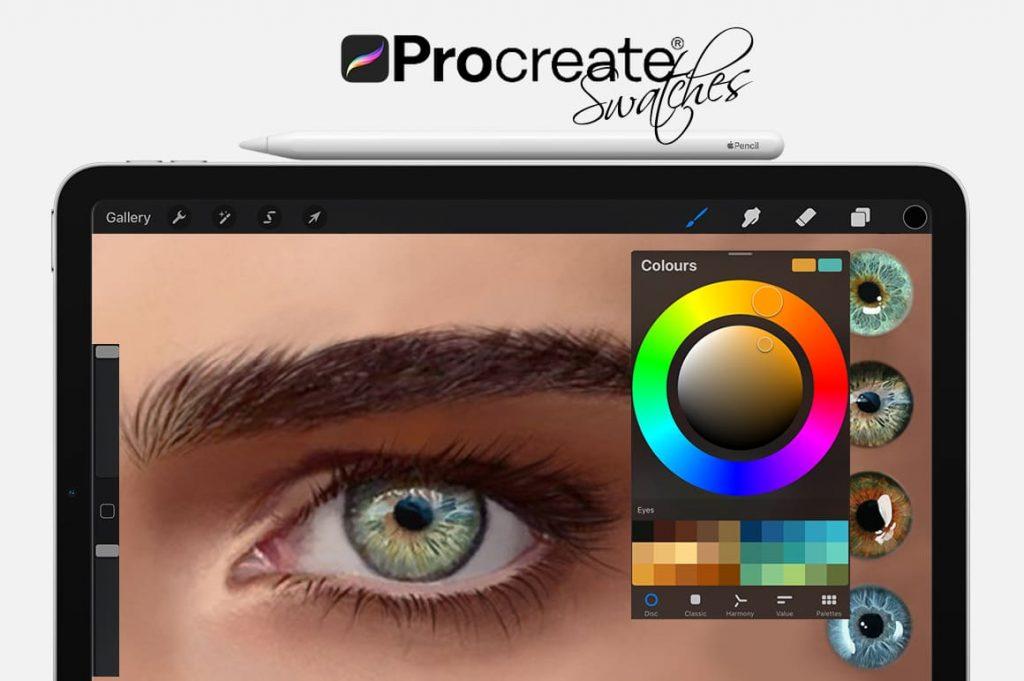 Eyes Digital Painting Assets - Portrait.