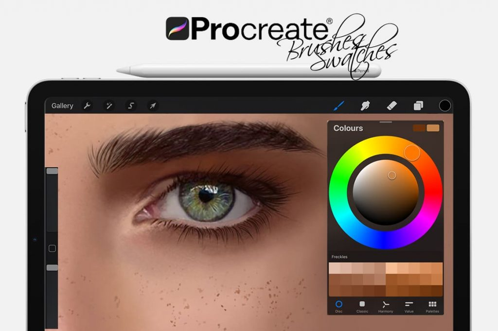 Example Freckles Digital Painting Assets - Portrait.