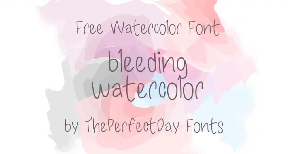 Free Watercolor Font Image by MasterBundles Facebook.