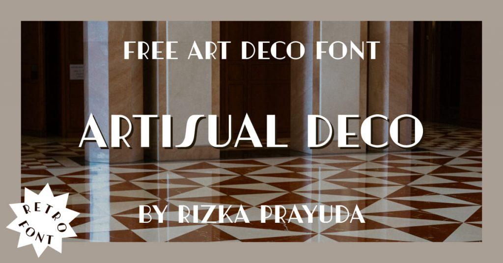 Free Art Deco Font Artisual Deco Facebook image by MasterBundles.