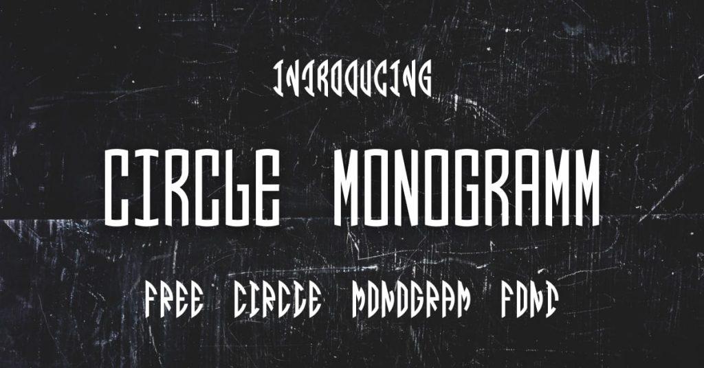 Free circle monogram font Facebook image by MasterBundles.