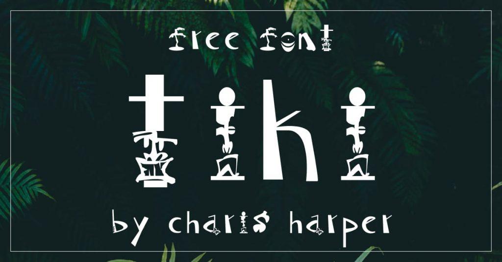 Awesome Free tiki font Facebook image by MasterBundles.