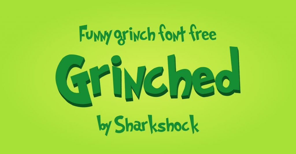 Funny grinch font free Facebook image by MasterBundles.
