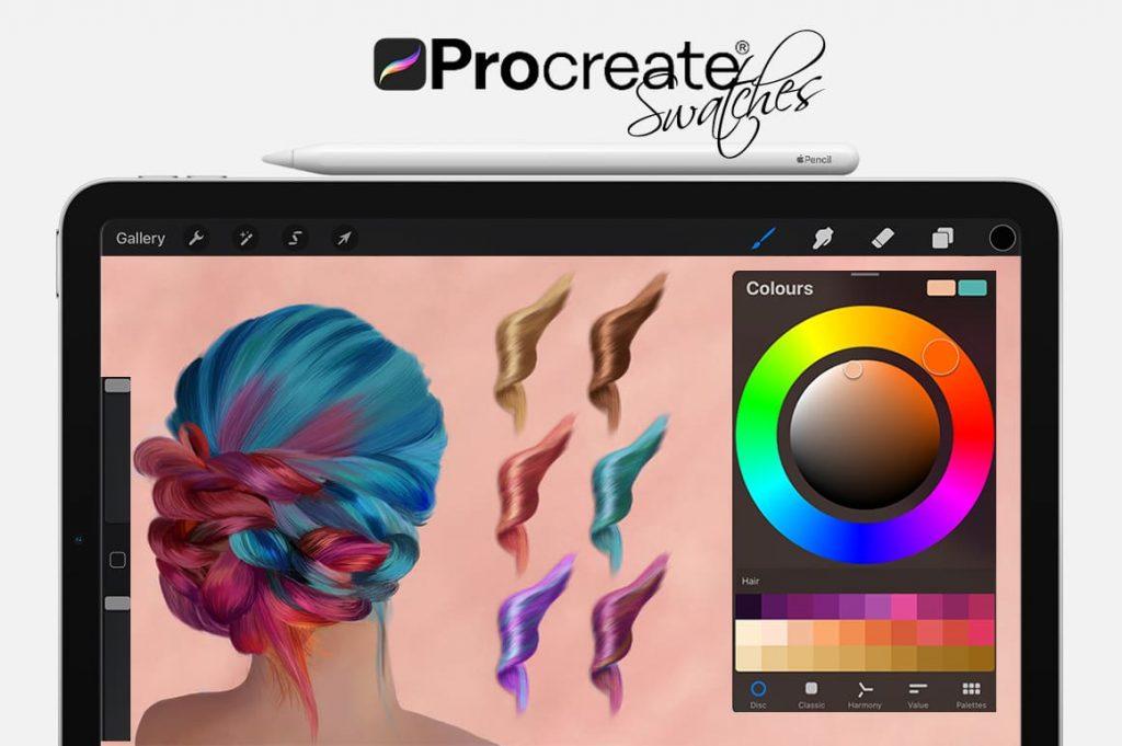 Hair Digital Painting Assets - Portrait.