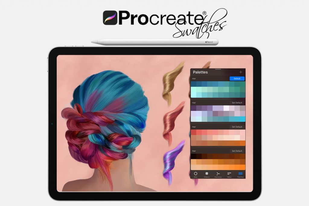 Hairstyle Digital Painting Assets - Portrait.