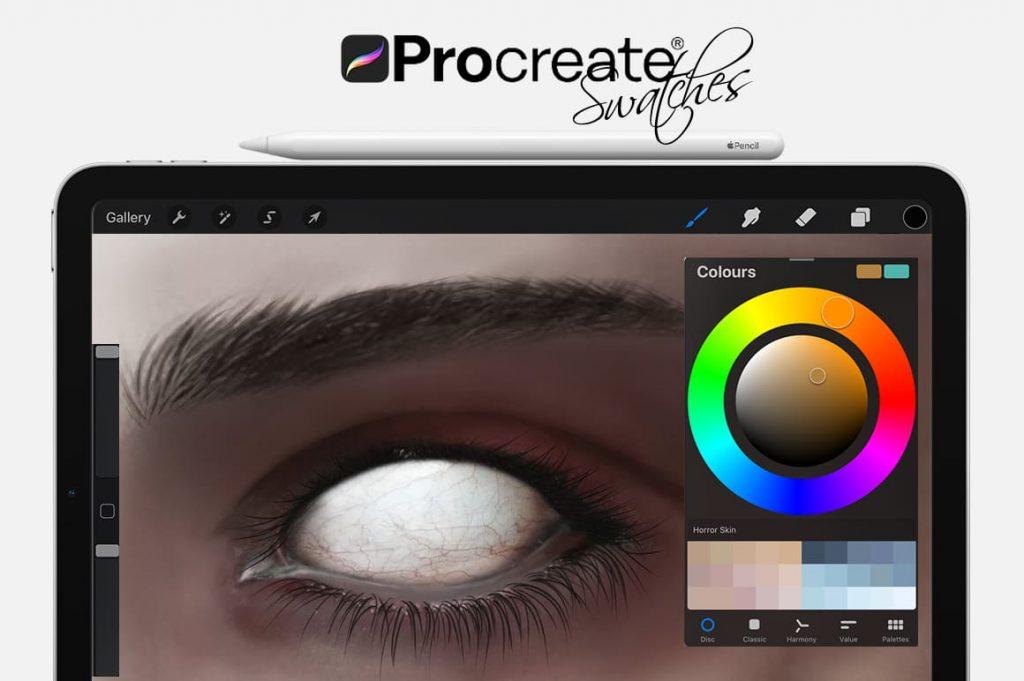 Horror Eyes Cartoon Painting Assets.