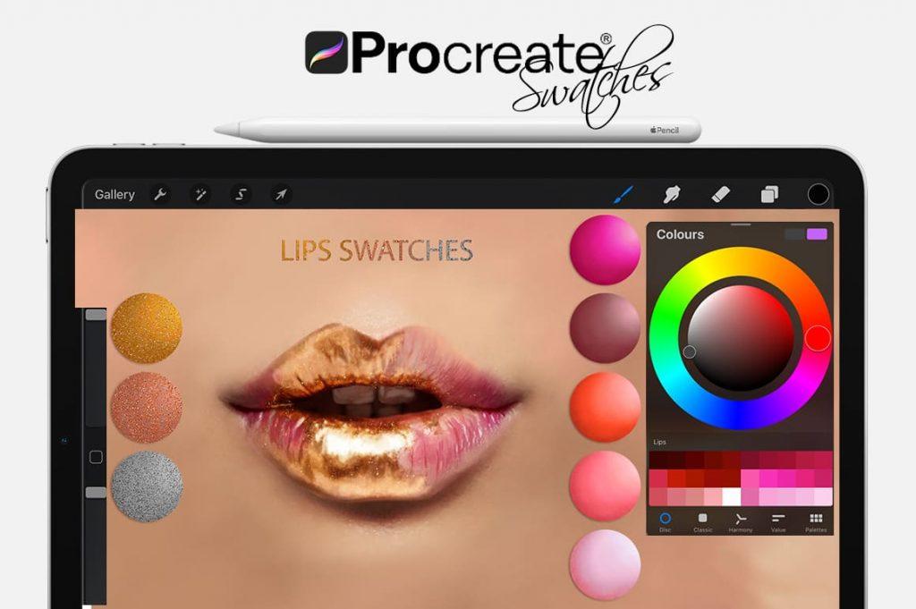 Lips Digital Painting Assets - Portrait.