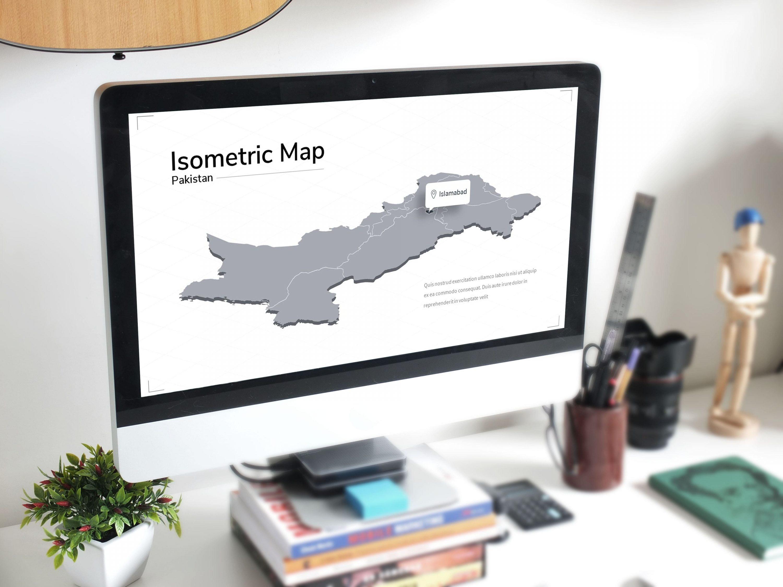 Isometric Map Presentation by MasterBundles preview mockup image.