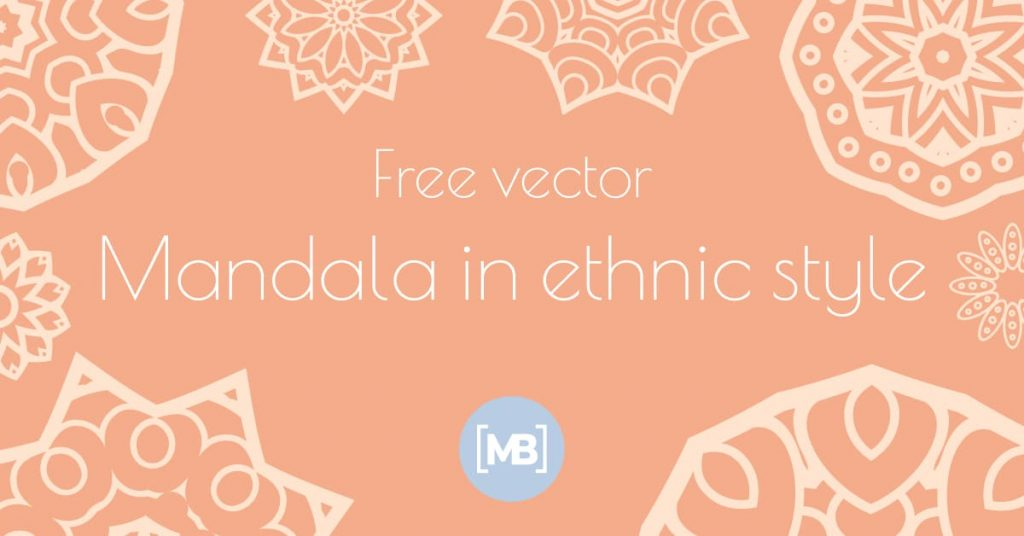 Mandala in ethnic style Free Vector Facebook Collage Image by MasterBundles.