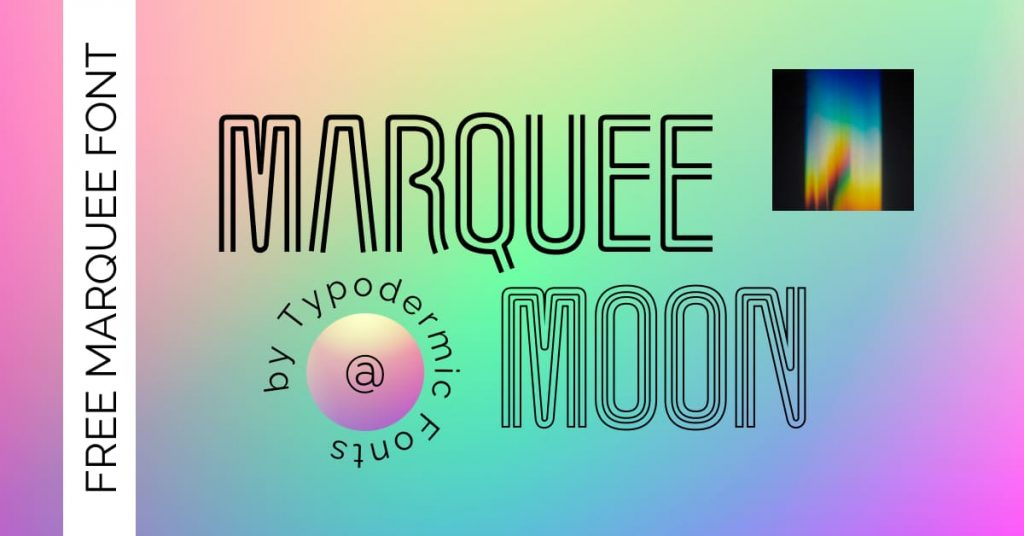Creative Free marquee moon font Facebook image by MasterBundles.