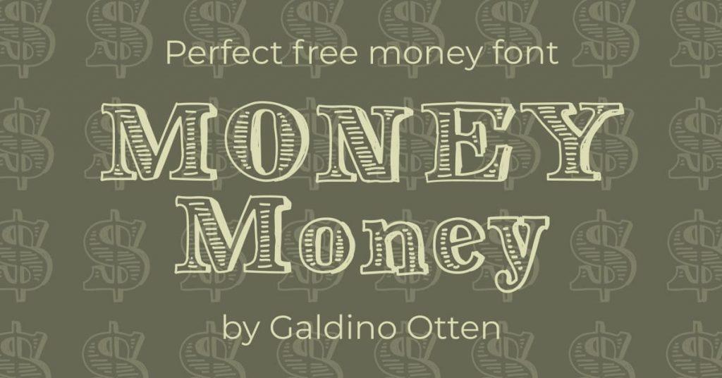 Perfect free money font Facebook image by MasterBundles.