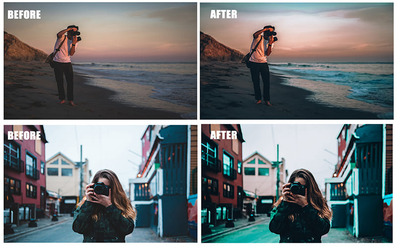 A photographer photographing photographers is a classic that needs to be correctly and timely decorated in color schemes.