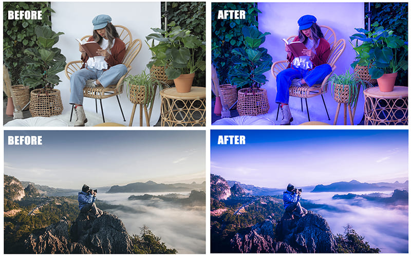 Options for processing photos with people. This is a great option for outdoor and urban photography.