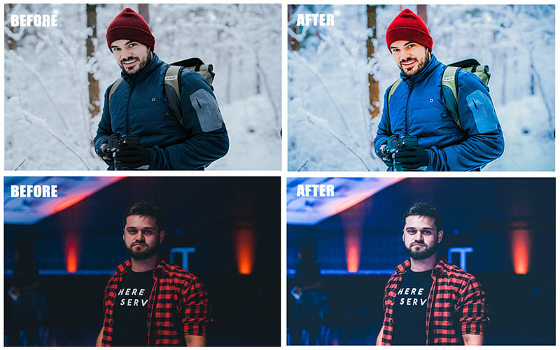 These are universal presets. They handle photos well both outdoors and indoors.