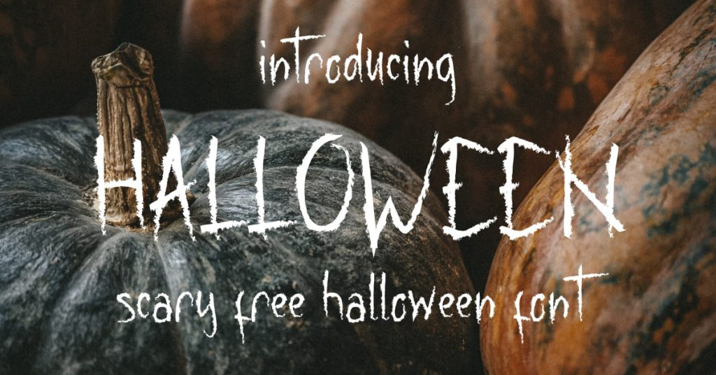 Facebook Image for Scarry free halloween font by MasterBundles.