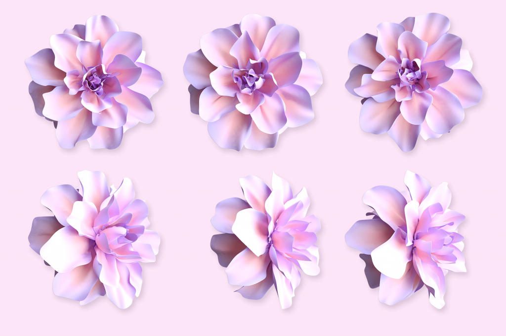 Flowers Spring Cartoon Painting Assets.