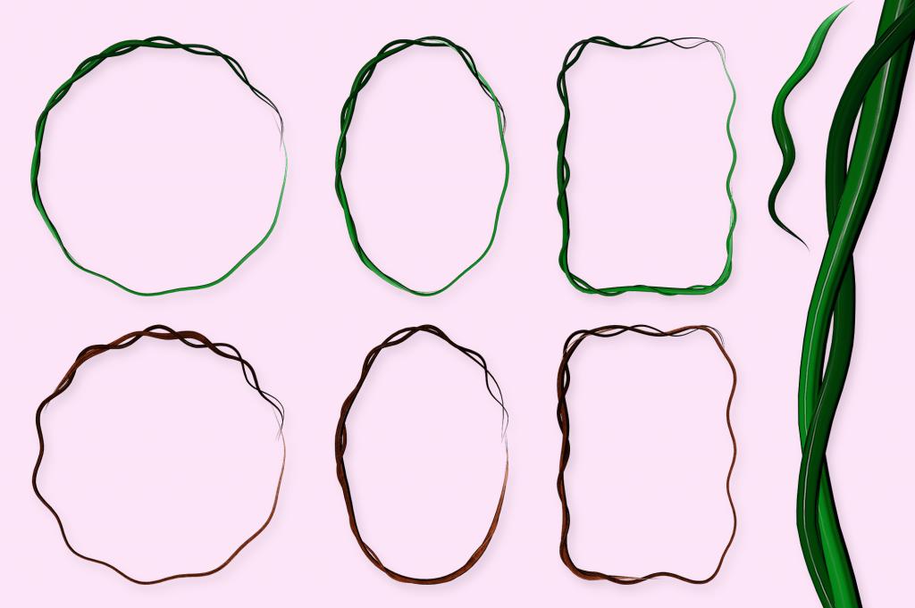 Geometry Spring Cartoon Painting Assets.