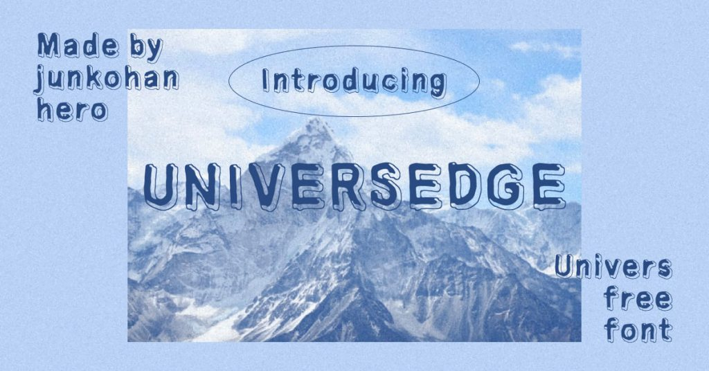 Facebook image for Universedge Free Font by MasterBundles.