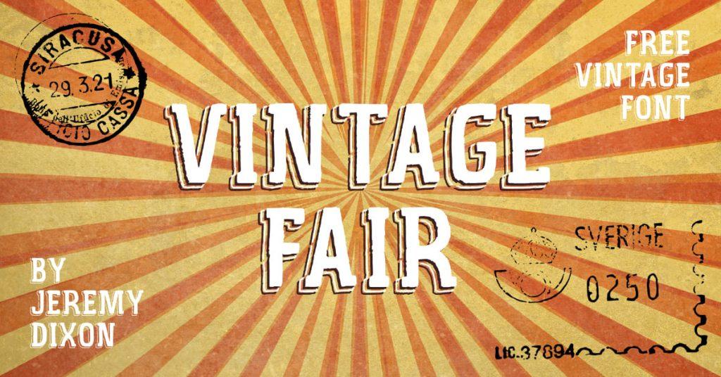 Free Vintage Fair font Facebook image by MasterBundles.