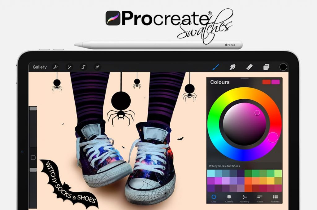 Witchy Socks And Shoes Cartoon Painting Assets.