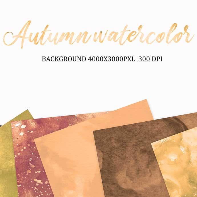 Autumn watercolor.