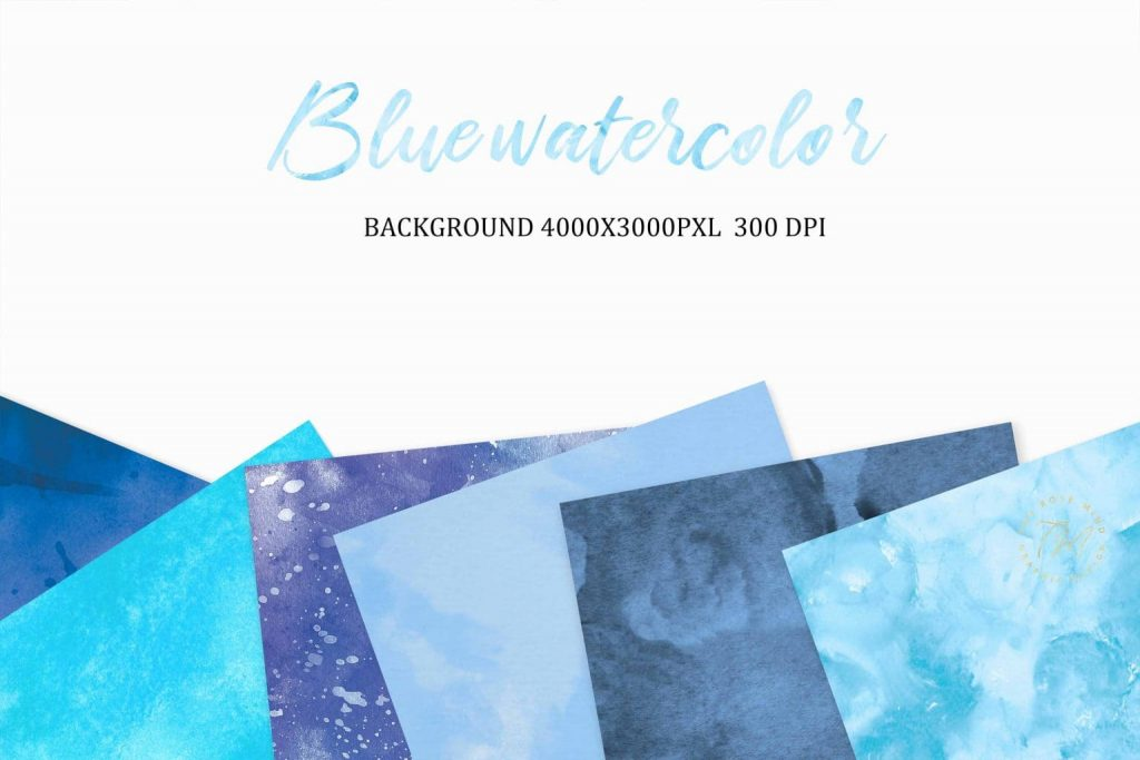 Blue watercolor backgrounds.