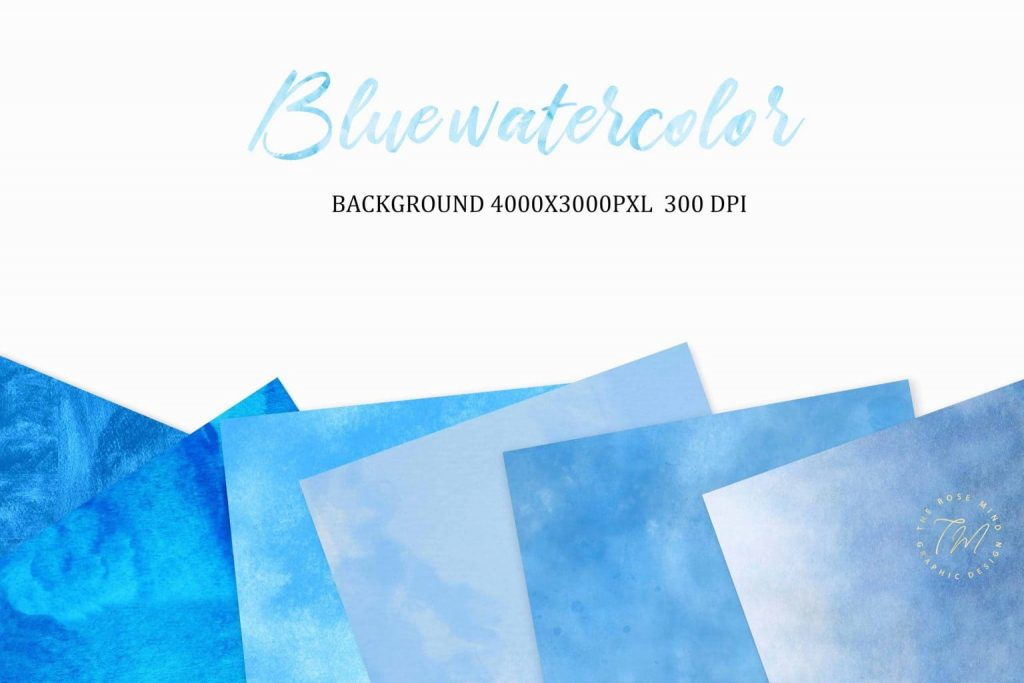 Preview of Blue watercolor backgrounds.