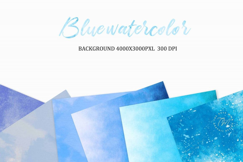 Blue watercolor backgrounds Examples.
