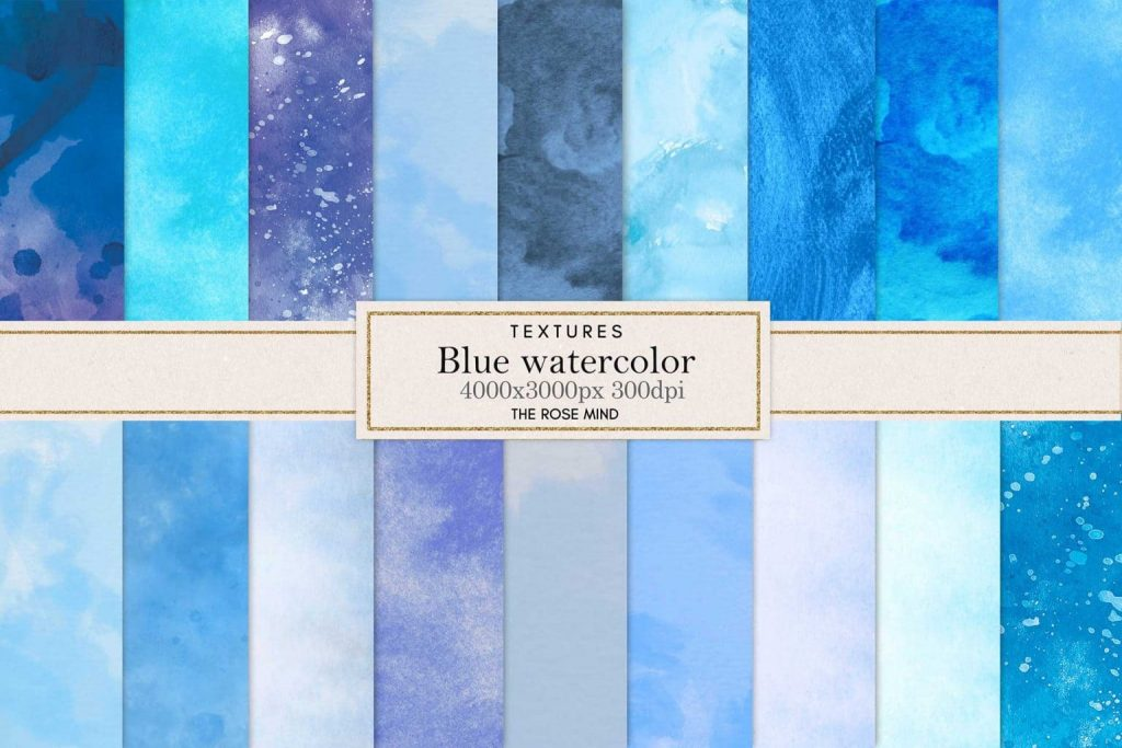 Cover for Blue watercolor backgrounds.