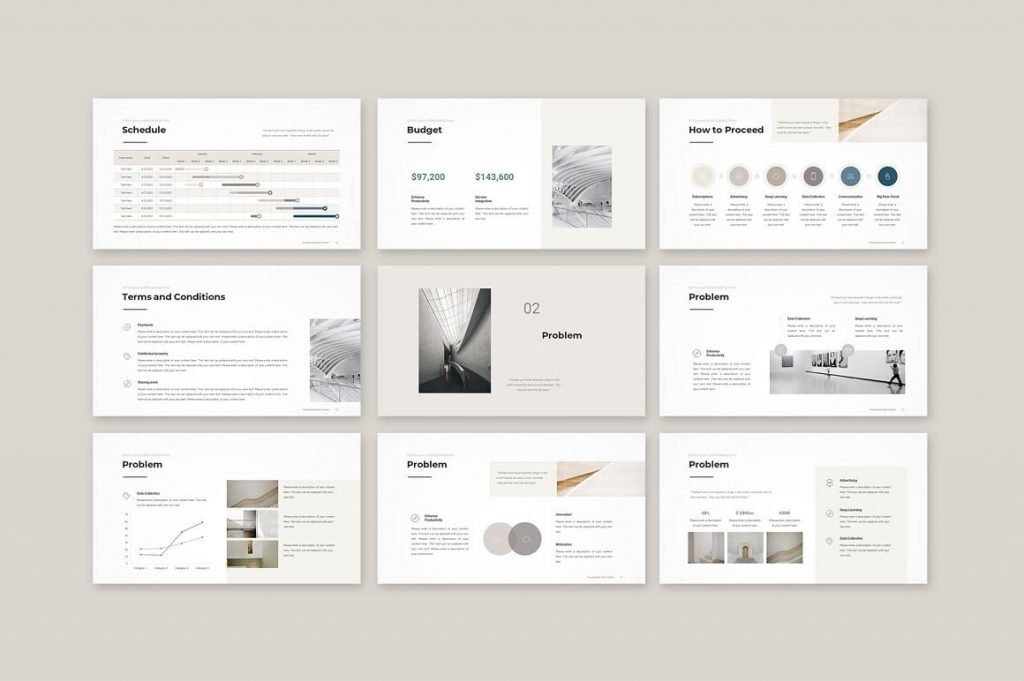 Slide Content Business Proposal Template.