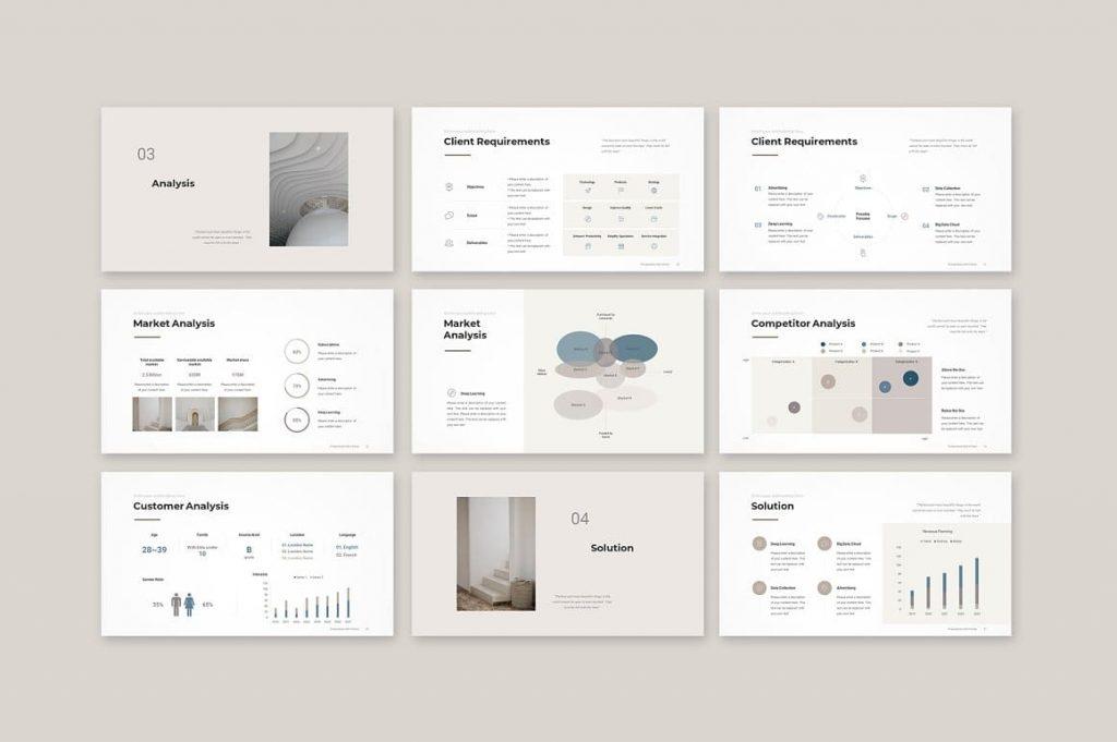 Slides Analytics Business Proposal Template.